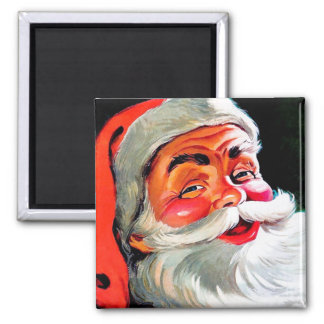 Santa Claus Funnies – Portrait Square Magnet