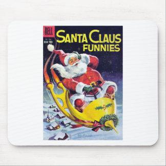 Santa Claus Funnies - Rocket Sled Mouse Pad