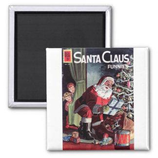 Santa Claus Funnies Square Magnet