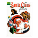Santa Claus Funnies - Train Set Postcard