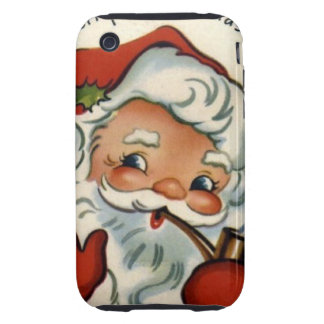 santa claus,genuine,vintage,reproduction,merry xma iPhone 3 tough case