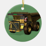 Santa Claus Giant  Dump Truck Driver Christmas Tree Ornament