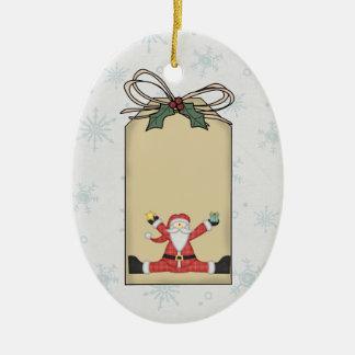 Santa Claus Gift Tag Ornament