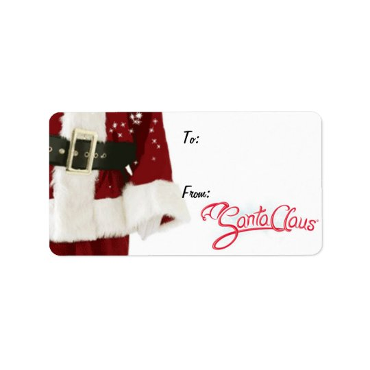 Santa Claus Gift Tags with Signature Address Label