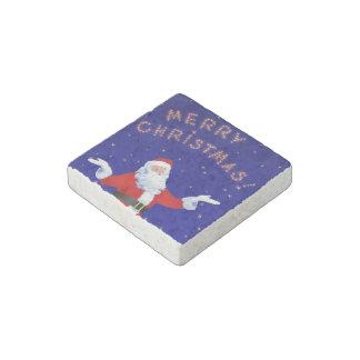Santa Claus Stone Magnet