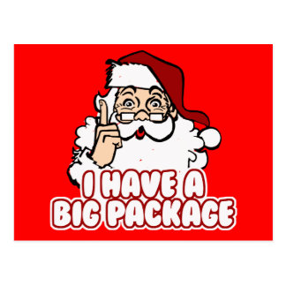 Santa Claus Has A Big Package Postcard