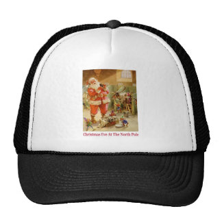 Santa Claus & His Elves in The North Pole Stables Cap