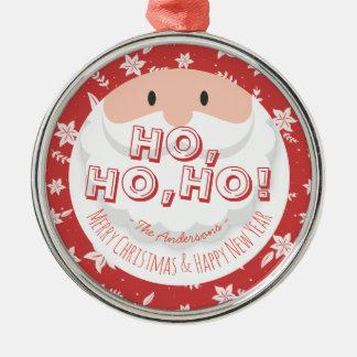 Santa Claus Ho Ho Christmas Happy New Year Holiday Christmas Ornament