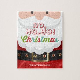 Santa Claus Ho Ho Christmas Happy New Year Holiday Jigsaw Puzzle