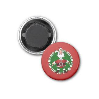 Santa Claus Ho Ho Ho 3 Cm Round Magnet