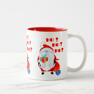 Santa Claus  Ho Ho Ho Two-Tone Coffee Mug
