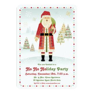 Santa Claus Holiday Party Invitation