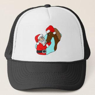 Santa Claus Horse Trucker Hat