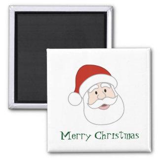 Santa Claus Illustration & Text Square Magnet