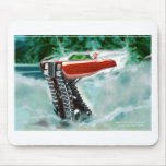 Santa Claus in a Red Rolls Royce Sleigh Mouse Pad