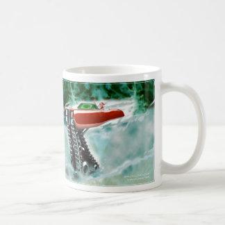 Santa Claus in a Red Rolls Royce Sleigh Mugs