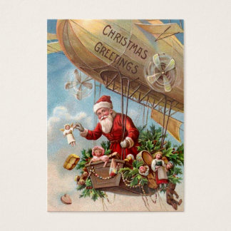 Santa Claus in Airship Business Card