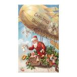Santa Claus in Airship Canvas Prints
