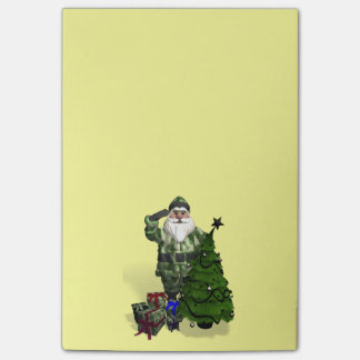 Santa Claus In Camouflage Dress Post-it® Notes