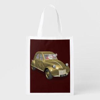Santa Claus In Citroen 2CV Grocery Bag