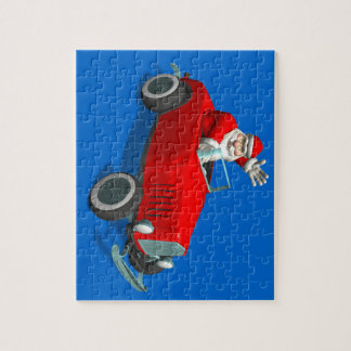 Santa Claus In Hot Rod Jigsaw Puzzle