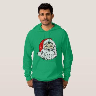 Santa Claus in Red Hat Hoodie