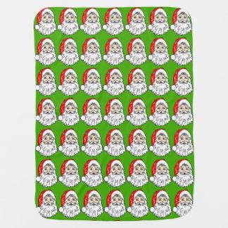 Santa Claus in Red Hat Pattern Baby Blanket