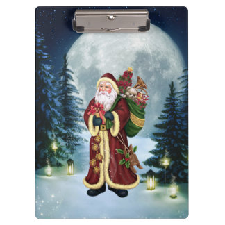 Santa Claus In The Forest Clipboard