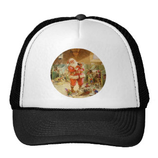 Santa Claus in the North Pole Reindeer Stables Cap
