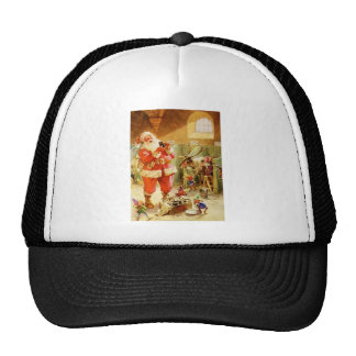 Santa Claus in the North Pole Stables Cap