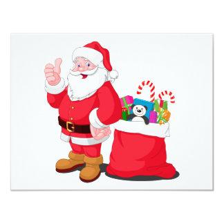 Santa Claus Custom Invitation