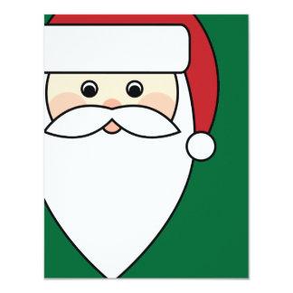 """Santa Claus 4.25"""" X 5.5"""" Invitation Card"""