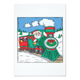 Santa Claus Is Coming To Town 13 Cm X 18 Cm Invitation Card