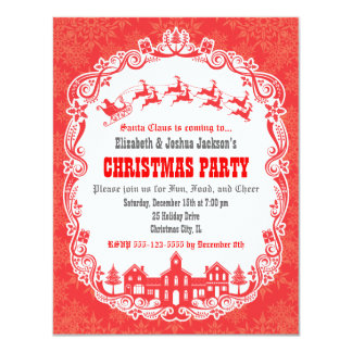 Santa Claus is Coming to Town Invitation