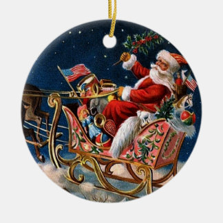 Santa Claus is Comming to Town Christmas Ornament