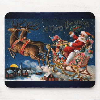 Santa Claus is Comming to Town Mouse Mat