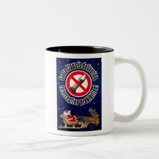 Santa Claus is delivering Coffee Mugs