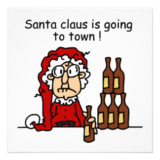 Santa Claus is Going to Town Custom Invite
