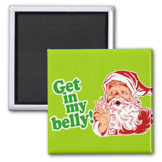 Santa Claus is Hungry Refrigerator Magnets