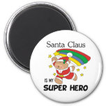 Santa Claus is My Superhero Christmas Refrigerator Magnets