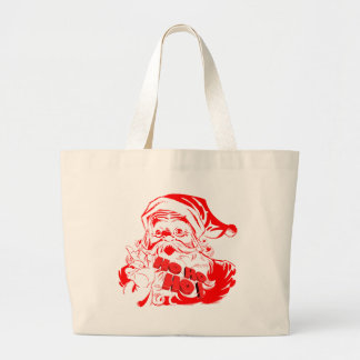 Santa Claus Large Tote Bag