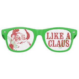 "Santa Claus ""LIKE A CLAUS"" Christmas Sunglasses"