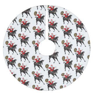 Santa Claus Loves Black Horses Brushed Polyester Tree Skirt