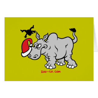 Santa Claus Meets a Rhino Card