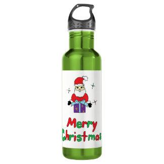 Santa Claus Merry Christmas 710 Ml Water Bottle