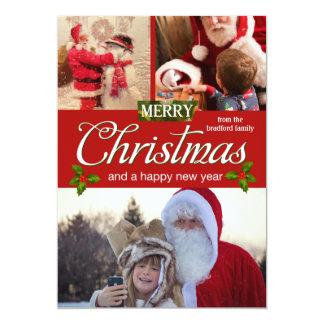 Santa claus - merry christmas - christmas photos card