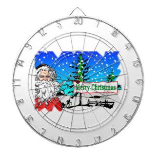 Santa Claus Merry Christmas Dartboards