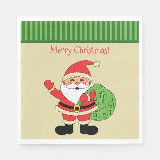 Santa Claus Merry Christmas Disposable Serviettes