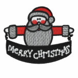 Santa Claus Merry Christmas embroidered mens shirt Embroidered Shirts