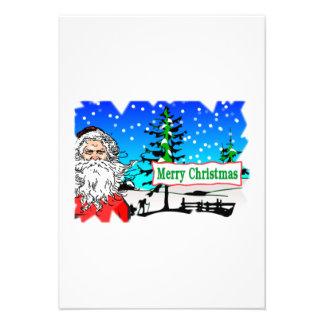 Santa Claus Merry Christmas Invite